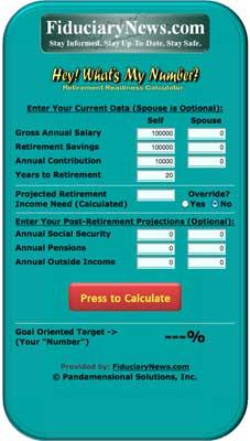Retirement Readiness Calculator